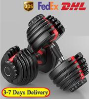 DHL/UPS/FEDEX 3-7 Days Delivery ! Weight Adjustable Dumbbell 5-52.5lbs Fitness Workouts Dumbbells Tone Your Strength Muscles LWT