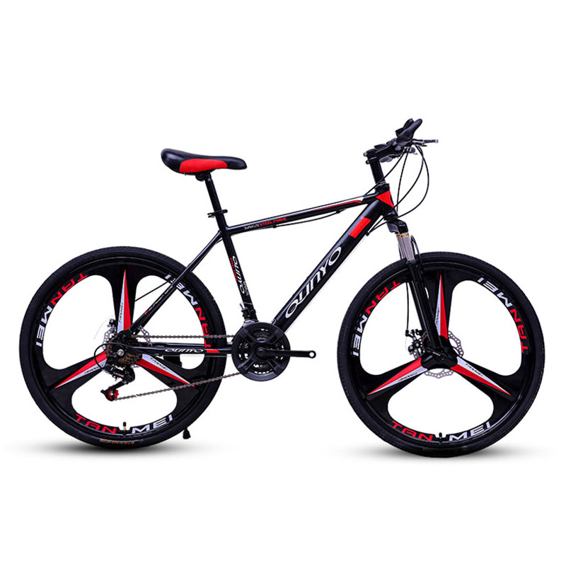 Bicycle Mountain Bike 24/27/30 Speed Mechanical Double Disc Brakes Adult Variable Speed Off Road Damping Bicycle image