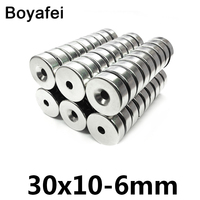 10/20/50 pcs Round Magnets 30x10 6mm for Stainless Refrigerator Premium Neodymium Magnet Durable Mini Strong Magnets 30*10 6 mm