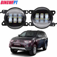 2 pièces LED s puces LED antibrouillard lampe 12V H11 pour Mitsubishi Pajero Montero Sport 2008-2014 H11 12V halogène antibrouillard