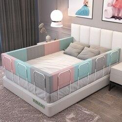 Детская кровать поручнем с регулировкой по высоте, анти-столкновения с двухсторонним движением детская кроватка кровать с загородкой обще...