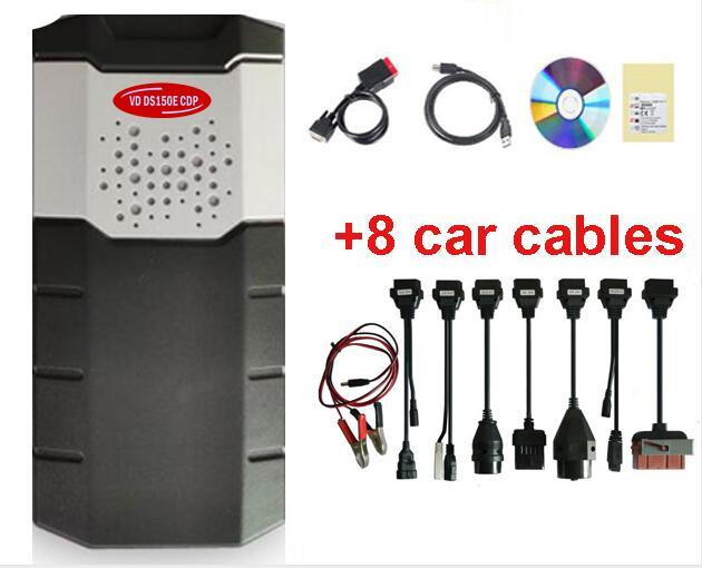 Obd Obd2 сканер для delphis vdijk autocoms pro. R0 VD DS150E CDP BLUETOOTH автомобили Грузовики диагностический инструмент+ 8 шт. автомобильные кабели - Цвет: usbwithcables
