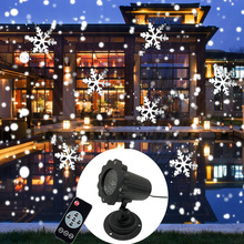Mini Snowfall Projector Moving Snow Outdoor Garden Laser Projector Lamp Christmas Snowflake Laser Light For Xmas Party