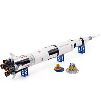 In stock 37003 Apollo Saturn V Launch Vehicle Model Building Blocks Toys Creative Compatible with Legoinglys 21309 Toys Hobbies