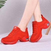 Sport Fitness Dance Shoes Woman Air damping Jazz Modern Dance Shoes Soft Sole Breath scarpe donna Women Walking Sneakers Women цена