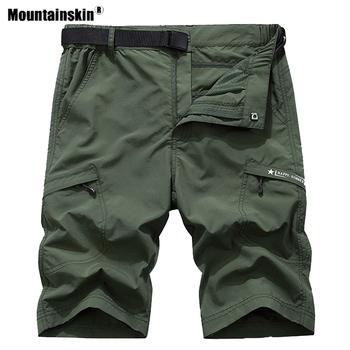 Mountainskin męskie letnie szybkie suche spodenki turystyczne Outdoor Sports oddychające Trekking Camping wędkarstwo bieganie męskie spodnie VA603 tanie i dobre opinie Poliester Camping i piesze wycieczki Pasuje prawda na wymiar weź swój normalny rozmiar Stałe Szorty Suknem Men Hiking Shorts Pants