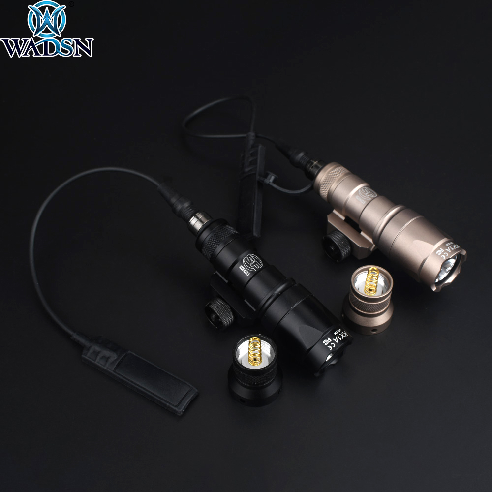 Airsoft Surefir M300 M300A Mini Scout Light 280lumens LED Weapon Tactical Flashlight Torch Outdoor Hunting Rifle Light