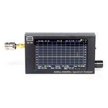 Analisador handheld do espectro de GS-100 35mhz-analisador minúsculo do espectro da frequência do espectro de 4400mhz com visor lcd de tft