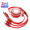3In1 2in1 Micro USB Type C 8 Pin Multi Charger Cable for IPhone 12 Huawei P30 Pro Xiaomi Mobile Phone Cables Charging Cabel Cord