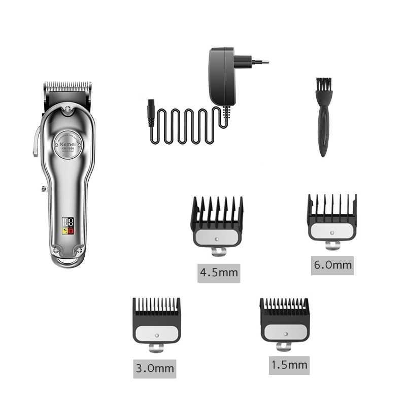 Alle metall professional hair clipper barber haar trimmer männer cord & cordless elektrische haar schneiden maschine einstellbare haarschnitt salon