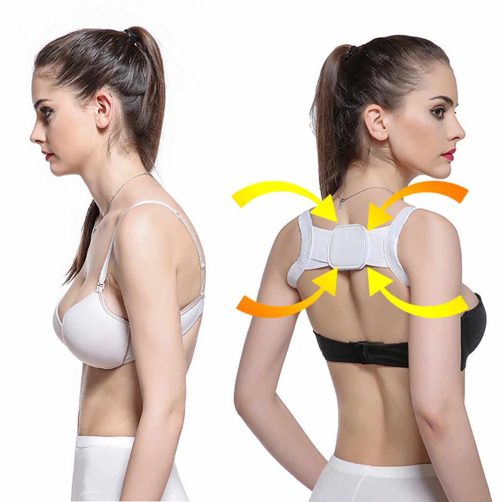 ブレースサポートベルト調節可能なバック姿勢コレクター鎖骨背骨快適なバックサポートサスペンダー肩胸ベルト