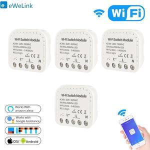 Смарт-переключатель eWelink Wfi, управление через приложение, WiFi, 16 А, 90-240 В, поддержка внешнего выключателя, работает с Alexa Google Home, 2-10 шт.