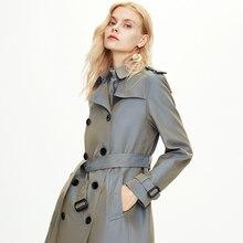 2020 осенне зимние женские длинные пальто ветровки и куртки