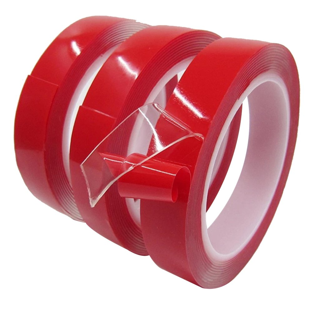 Transparent Double Sided Tape Household Wall Hangings Adhesive Glue Tapes Car Sticker Auto Adhesive Tape 15mmX3m, 30mmX3m