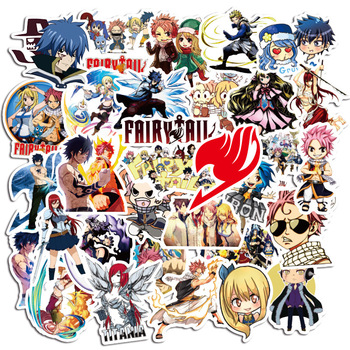 50pcs Classic Anime FairyTail Stationery Waterproof Pvc Sticker Skateboard Suitcase Luggage Laptop Sticker Kid Toy Sticker ca971 50pcs set the seven deadly sins 90s anime sticker skateboard suitcase guitar luggage laptop sticker kid classic toy