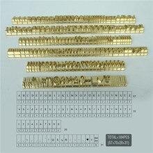 Temps, script romain, Microsoft/cursif, lettres destampage flexibles, en forme de T, 184 pièces/ensemble RCIDOS à personnaliser, numéro/alphabet