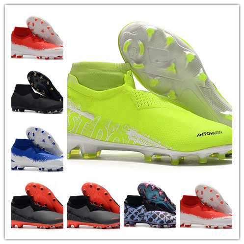 Football-Boots Soccer-Shoes FG Phantom-Vision Elite Sports Outdoor Mens DF X EA Calcio title=
