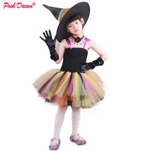 POSH DREAM Orange Green Toddler Baby Girls Halloween Tutu Dresses with Hat Vintage Cute Children Kids Girls Party Clothes(China)