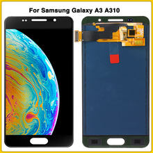 LCD touch panel For Samsung Galaxy A3 2016 A310 A310F A310M A310H LCD Display Screen Touch Digitizer Assembly(China)