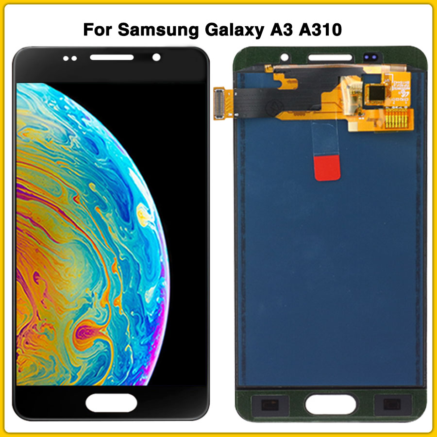 LCD touch panel For <font><b>Samsung</b></font> Galaxy A3 2016 A310 <font><b>A310F</b></font> A310M A310H LCD <font><b>Display</b></font> <font><b>Screen</b></font> Touch Digitizer Assembly image