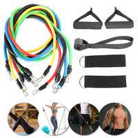 11 pièces Fitness traction corde bandes de résistance Latex force équipement de gymnastique pour la maison exercices élastiques corps Fitness équipement d'entraînement