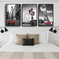 Modern Canvas Pictures Tower London Eye Canvas Painting Nordic Cityscape Posters and Prints Wall Pictures for Living Room