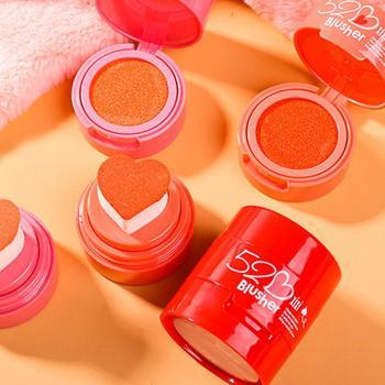 Colorete Maquillaje en polvo cara rubor crema pigmento Mineral paleta sombra de...