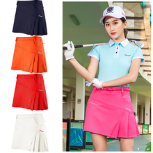 Outdoor Feminino Golf Clothing Woman Golf Skirt Summer Skorts Anti Emptied Shorts Pleated Wrinkle For Girl with Safety Shorts