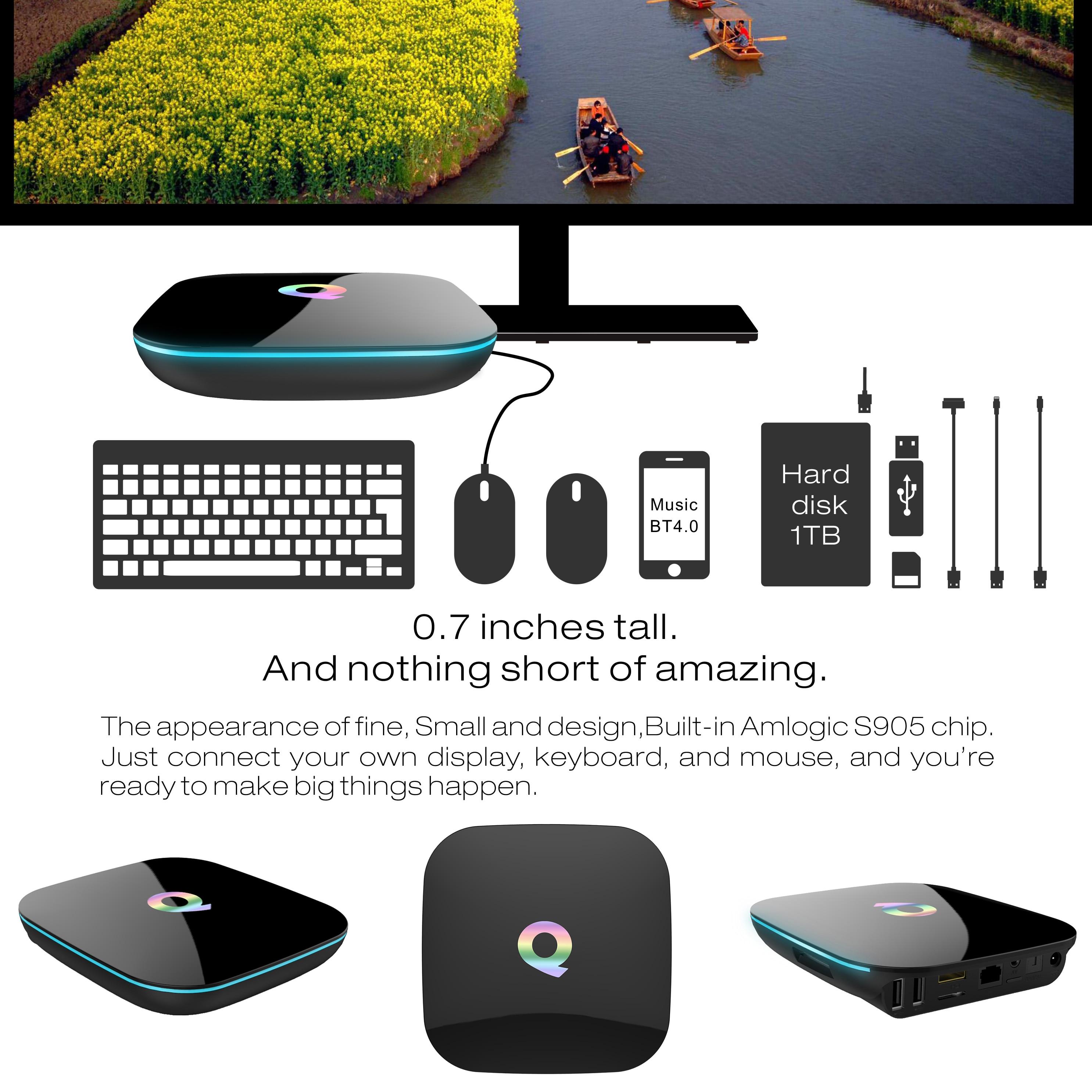 QBOX TV BOX haute Configuration antenne android TV Box M8S réseau décodeur lecteur moderne maison TV boîtier - 3