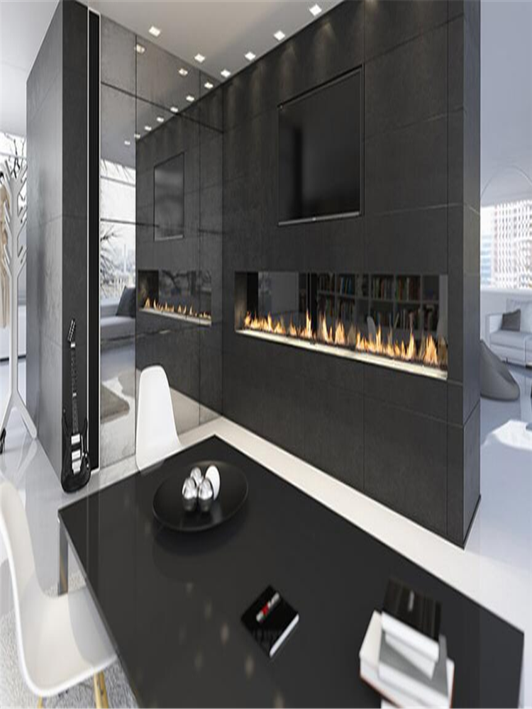 60 Inch Real Fire Stainless Steel Intelligent Smart Automatic Alexa Wlan Remote Flame Ignition Bio Ethanol Fireplace