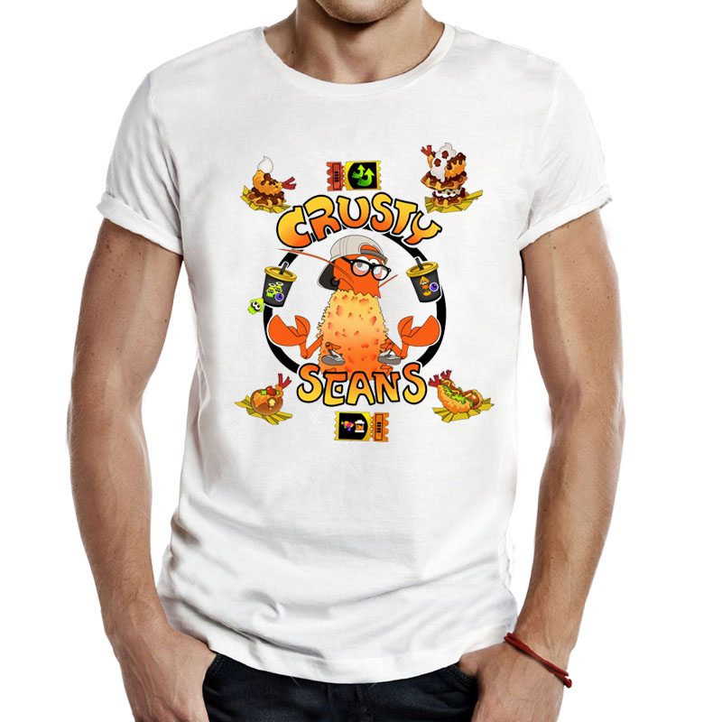 splatoon Crusty <font><b>seans</b></font> Video Game Men Unisex Gaming <font><b>T</b></font> <font><b>Shirts</b></font> Tees Casual Fashion inkling food splatoon2 geek nerd salmon <font><b>T</b></font>-<font><b>Shirts</b></font> image