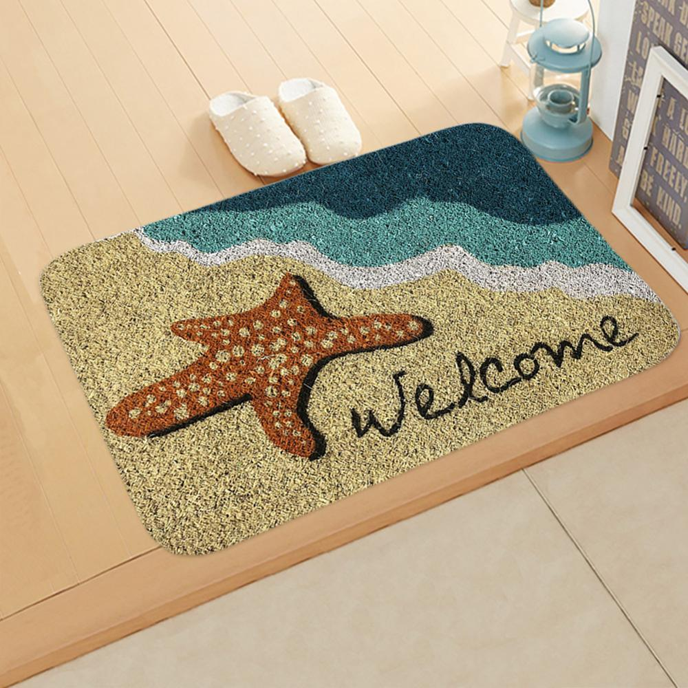 Newest Welcome Doormat Entrance Mat Hallway 6 Patterns Printed Anti Slip Floor Mat Area Rugs Funny Custom Front Door Mat Carpet|Mat| |  - title=