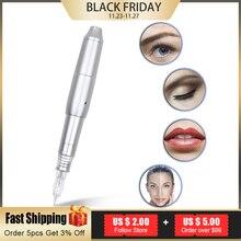 Heiße Neue Professiona CQ003 Schalter Permanent Make Up Maschine Stift mit Nadeln Augenbraue Lip Stift 3D Microblade Tatto Gun Set