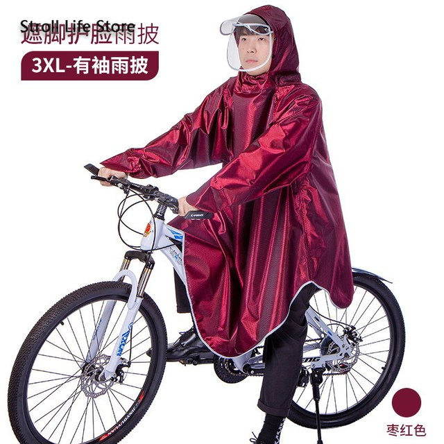 Electric Bicycle Riding Raincoat Adult Thickened Rain Poncho Bicycle Rainwear Woemn Men Rain Coat Capa De Chuva Gift Ideas 5