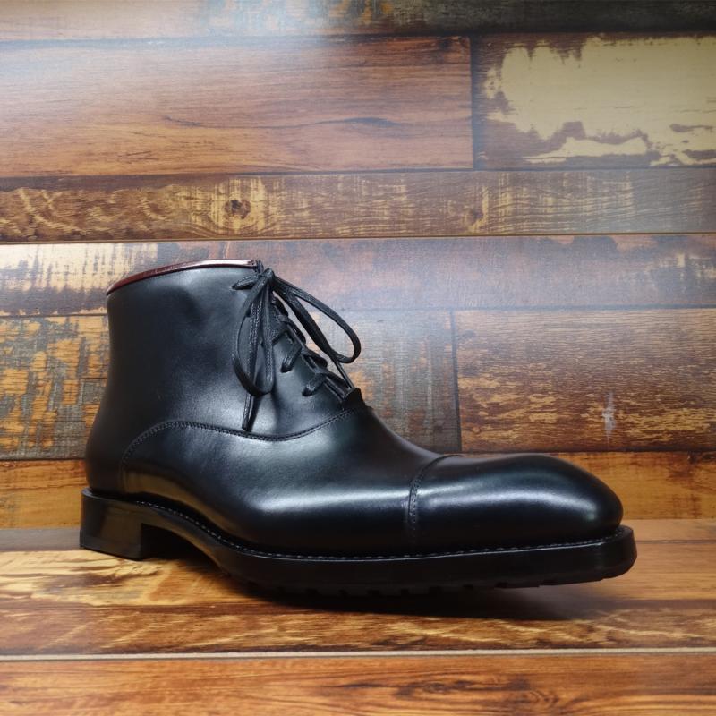 Sipriks/черные модельные ботинки из натуральной кожи для мужчин; модные итальянские Прошитые сапоги с рантом; ботинки оксфорды с закрытым носком; Рабочая обувь