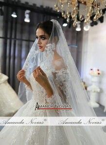 Image 5 - رداء مارياج فام 2020 فستان زفاف دانتيل كامل فساتين زفاف للعروس