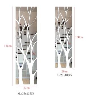21 sztuk 3D drzewo naklejki na lusterka domu salon dekoracji DIY wodoodporna naklejka akrylowa restauracja lustro naklejka naścienna tanie i dobre opinie CN (pochodzenie) Naklejka ścienna o lustrzanej powierzchni Nowoczesne For Wall Naklejki na meble naklejki okienne Paczka z wieloma częściami