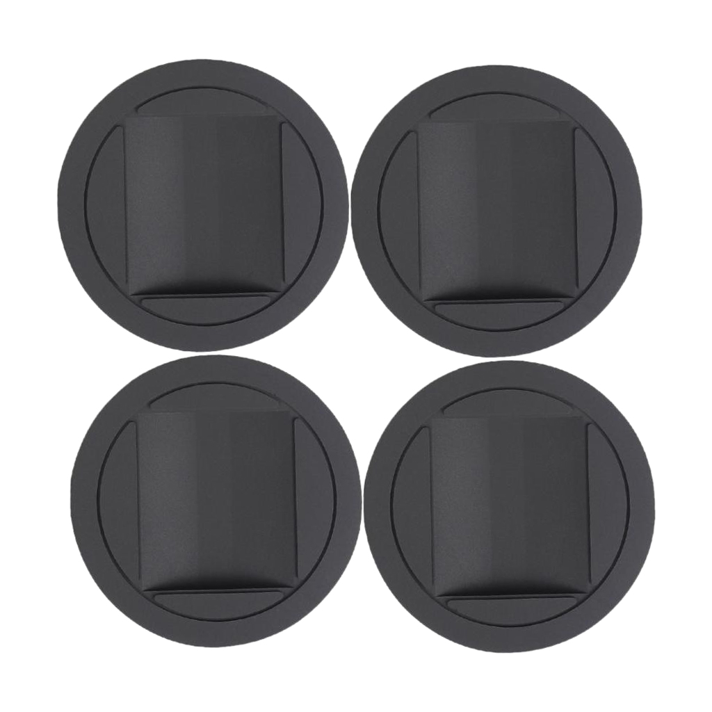4 Pieces Piano Rubber Caster Cups Mat For Upright Grand Piano Accessories