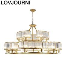 Lustre De Techo Moderna Hanglampen Voor Eetkamer Lighting Luminaire Luminaria Crystal Light Lampara Colgante Loft Hanglamp