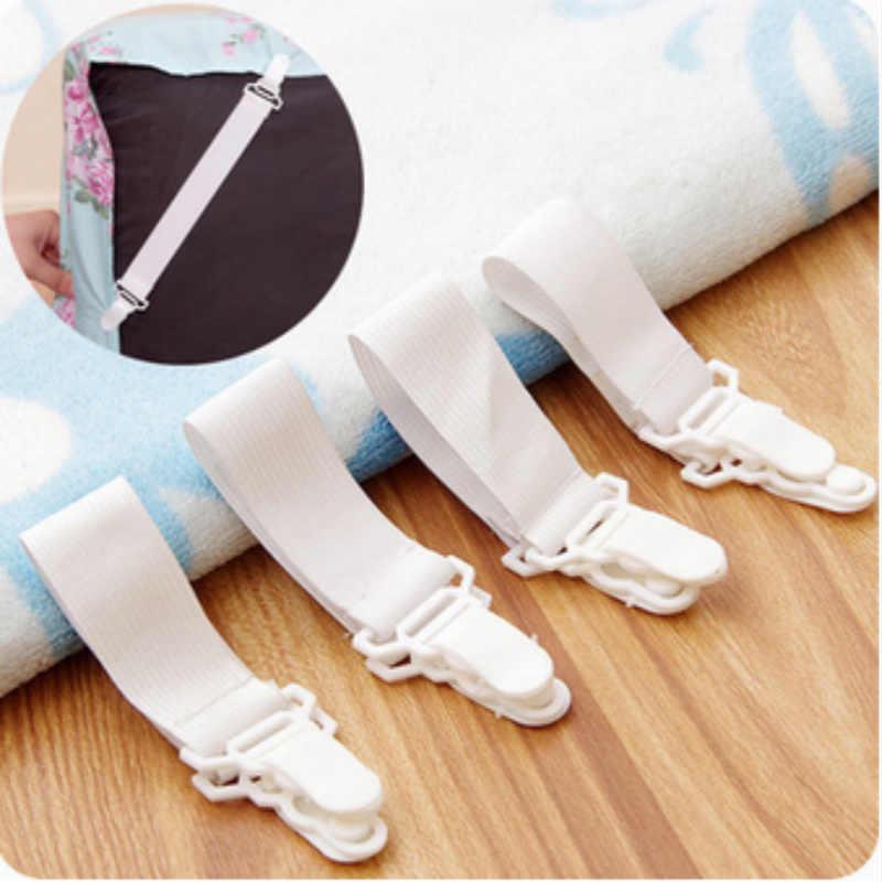 2019 ติดตั้งอุปกรณ์เตียงแผ่นคลิปลื่นยืดหยุ่น 4PCS ผ้าปูที่นอนผ้าคลุมเตียงผ้าปูที่นอนหัวเข็มขัดตารางผ้าที่ดีที่สุดขาย