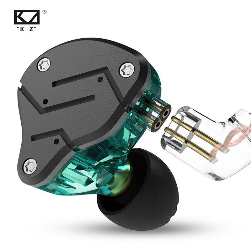 Original KZ ZSN Metal Earphone Hybrid Technology 1BA+1DD HIFI Deep Bass Earbuds Monitor Headset Sport Noise Cancelling Headphone