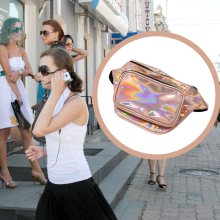 Women Hologram Laser Waist Bag Fashion Shiny Neon Fanny Pack Punk Reflective Bum Bag Travel Purse(China)