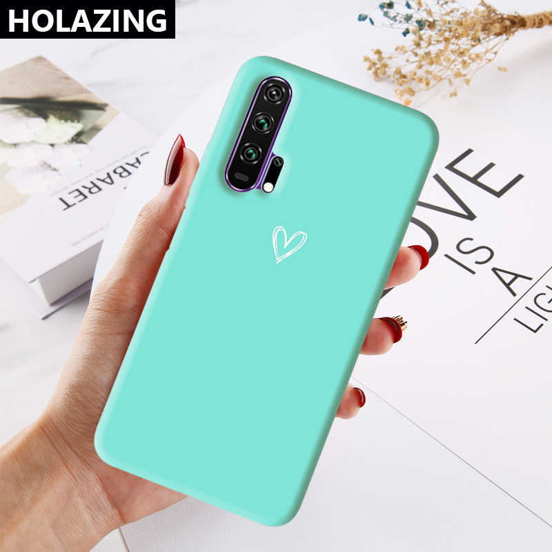 Dành Cho Huawei Honor 20 Pro 9X Nhiều Màu Sắc Ốp Lưng Kẹo Trái Tim Kết Hợp Màu Sắc Silicone Mềm Bao Coque Funda