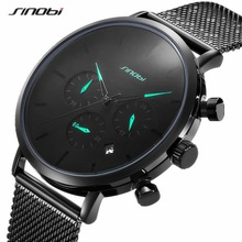 купить Sinobi Men Watch Brand Luxury Famous Dress Fashion Watches Unisex Ultra Thin Quartz Wristwatch Male Clock Relojes Para Hombre дешево