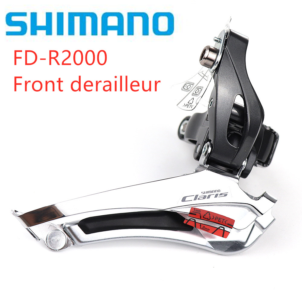 <font><b>Shimano</b></font> <font><b>Claris</b></font> <font><b>R2000</b></font> Front Derailleur 2x8 Speed Road Bike Bicycle Braze on Clamp 34.9 include 31.8 adapter image