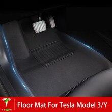 Uds coche tapetes para Tesla modelo Y XPE TPR pie negro Mat accesorios de Interior de coche alfombrillas para Tesla modelo 3 2021 Dropship