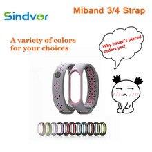 Sport Mi Band 3 4 Strap Wrist for Xiaomi mi band Silicone Bracelet smart Watch