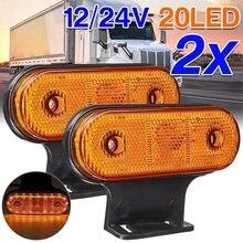 Tail-Light-Accessories Side-Marker-Light Boat Truck Rv-Trailer Rear 24V LED Car 12V 2pcs