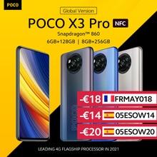[World premiere em estoque] poco x3 pro versão global snapdragon 860 smartphone 120hz dotdisplay 5160mah 33w nfc quad câmera ai