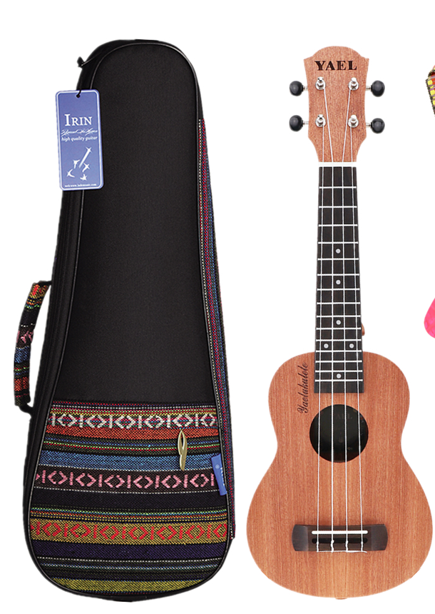 High Quality 21 Inch Soprano Ukulele / Ukulele Bag Sapele Wood 15 Fret Four Strings Hawaii Guitar String Musical Instrument